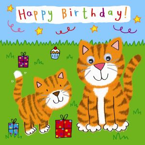 Childrens Birthday Card - Tigers